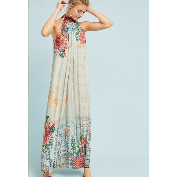 969586c32128 Anthropologie Dresses   Htf Nwt Bhanuni Marilla Halter Dress   Poshmark